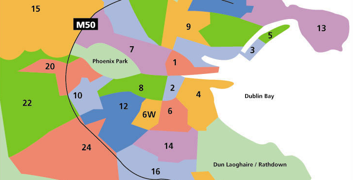 Mapa da Cidade: mas que raios são Dublin 1, 2, 3 ou 24?