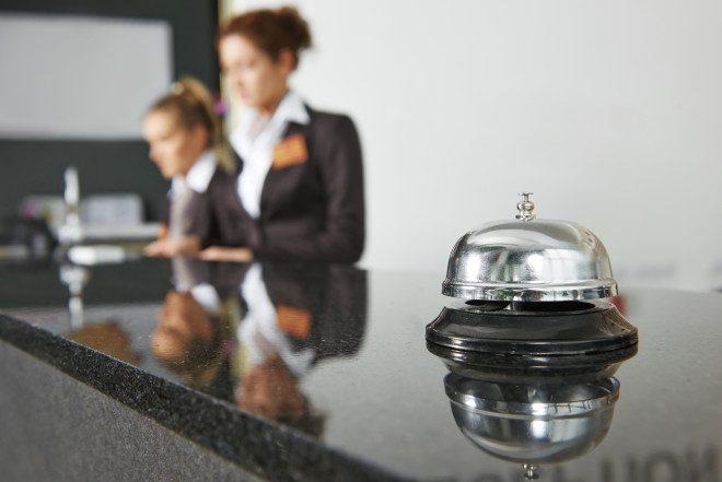 Recepção impecável, para entrada dos hospedes © Dmitry Kalinovsky - Dreamstime.com