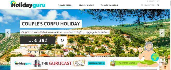 Utilize sites de viagens para aproveitar boas promoções pela Europa. Reprodução HolidayGuru