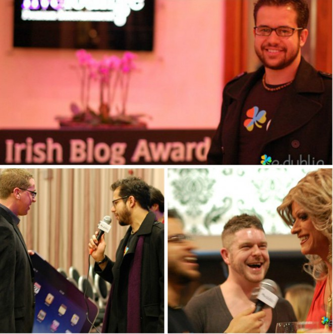Edu Giansante at the Irish Blog Awards