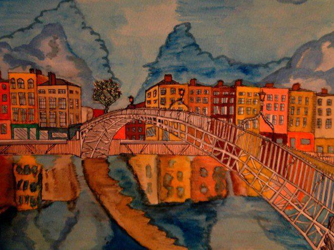 Ha'penny Bridge by o estudante brasileiros Arthur Seabra. @reprodução site deSaboya