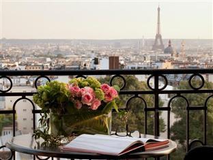 Hotel Terrass, vista romântica da cidade de Paris