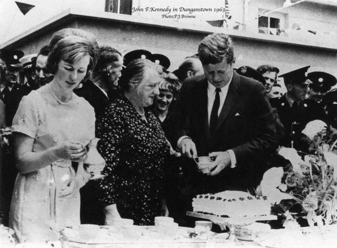 John F. Kenneddy em visita à Wexford. Foto: The Kennedy Homestead