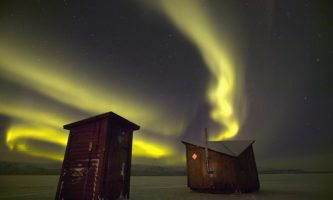 Aurora Boreal em Abisko, Suécia