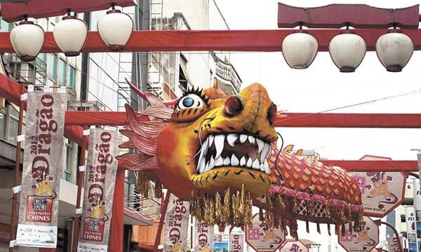 Dragão é simbolo Chinês