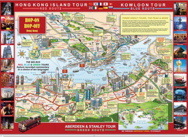 Mapa com a visão geral do must see in KH. Foto: Divulgação