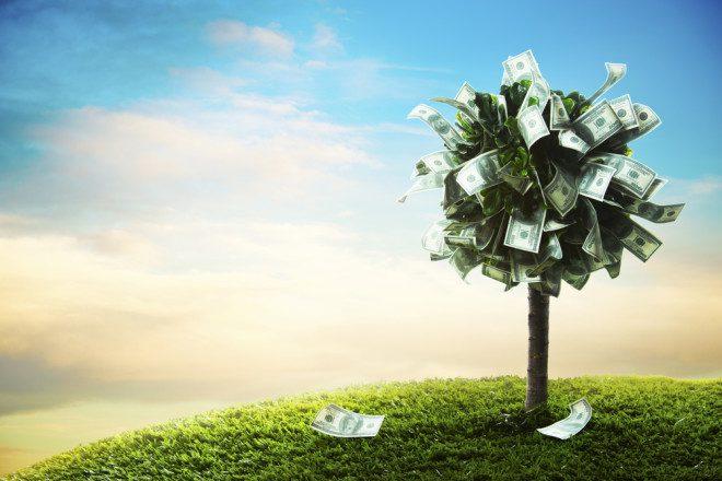 Esqueça essa ideia de ficar rico! Crédito: Shutterstock
