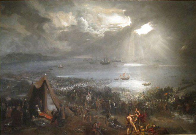 Batalha de Clontarf pintada por Hugh Frazer, 1826. Créditos: Wikimedia.