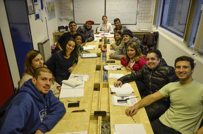 Classes mistas ajuda na adaptação durante as aulas de inglês. Foto: Arquivo Pessoal