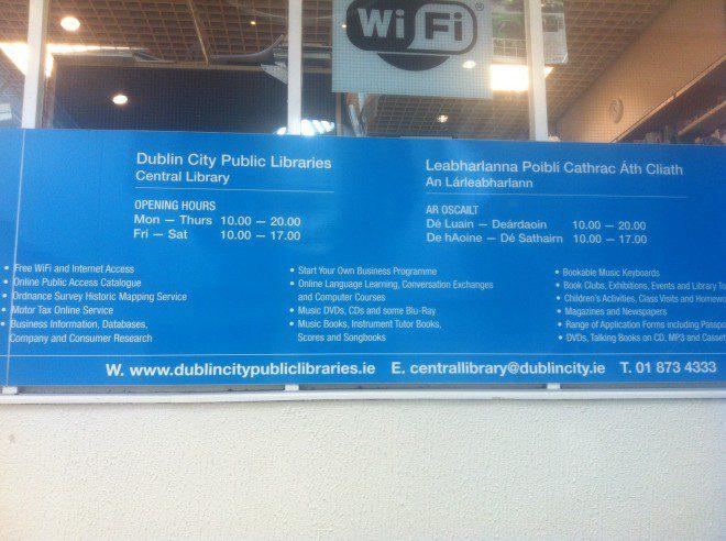 Bibliotecas são locais confortáveis para estudar em Dublin. Créditos: Acervo pessoal.