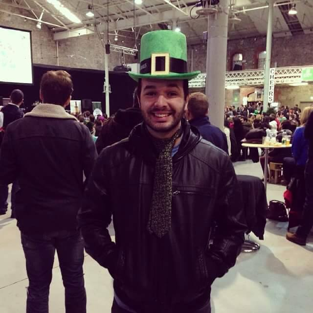 João Rodrigo, há dois meses e meio em Dublin, Irlanda.