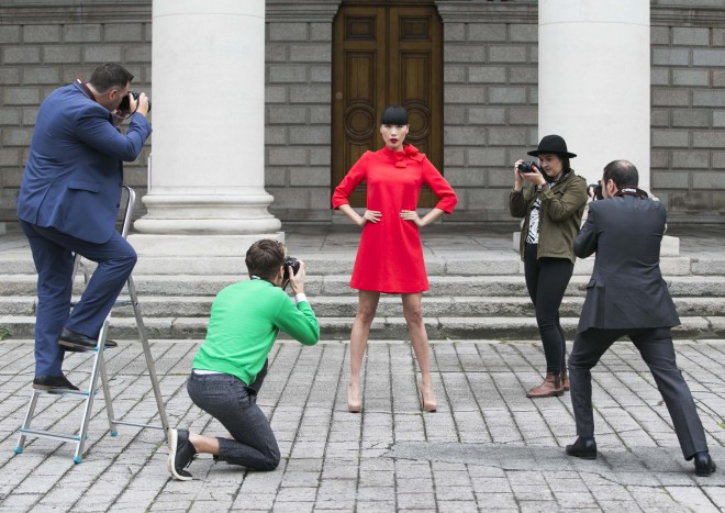 NO REPRO FEE. 22/7/2015. Pictured is top Irish model Yomiko Chen announcing that Canon Ireland is the official camera partner to this year`s Dublin Fashion Festival. As part of this partnership, Canon Ireland will sponsor the festival`s first ever young fashion photographer competition. Launching today the 'Canon Young Fashion Photographer of the Year' competition is open to all budding photographers from around Ireland and aims to help amateur fashion photographers gain experience and exposure in the fashion industry. The winning photographer will receive 500.00 ,euro worth of Canon products and the chance to shoot a professional catwalk show at London Fashion Weekend this September. Photo: Leon Farrell/Photocall Ireland.