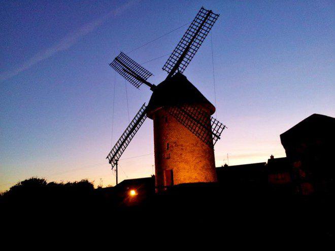 Os lindos moinhos de ventos. Foto: Elizabeth Gonçalves