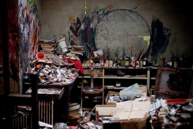 Reprodução do estúdio do artista irlandês Francis Bacon. Reprodução: Flickr