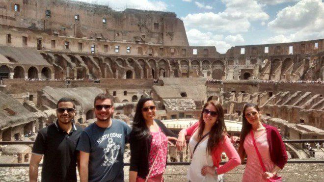 Nos mochilões da vida...Roma! Créditos: Acervo pessoal.