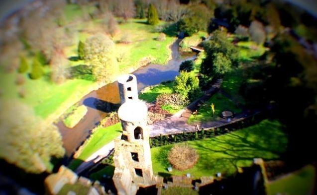 Vista do alto do Blarney Castle. Foto: Ávany França