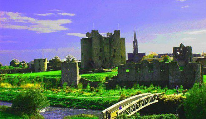 Trim castle na Irlanda. Reprodução: Trim Town