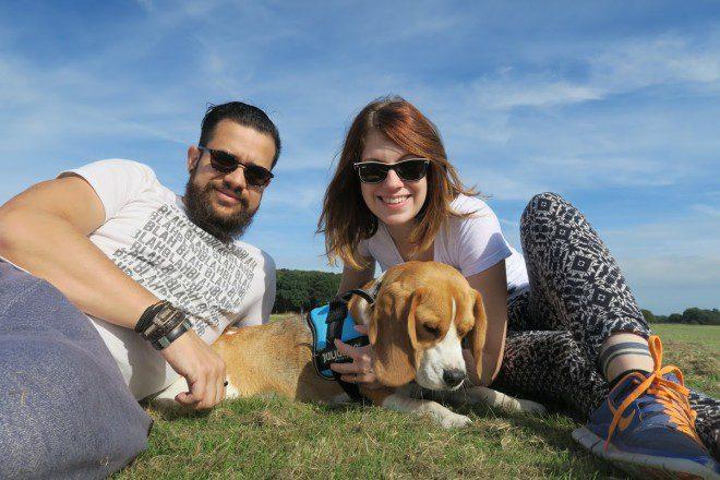 O intercâmbio também me deu uma nova família linda - na foto, eu, Edu e Danone no Phoenix Park.