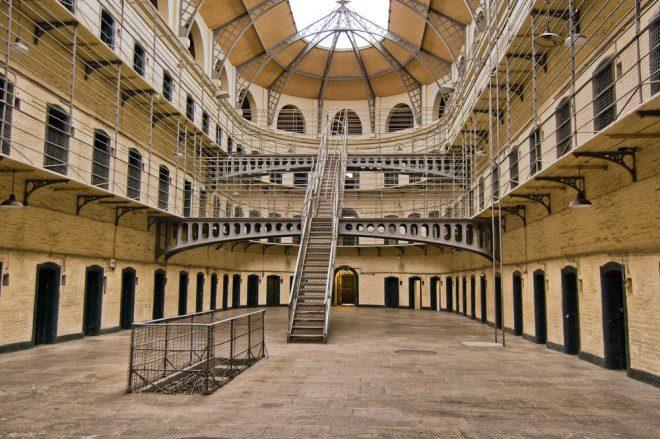 Kilmainham Gaol, uma das prisões mais assustadoras da Irlanda. Crédito: Shutterstock