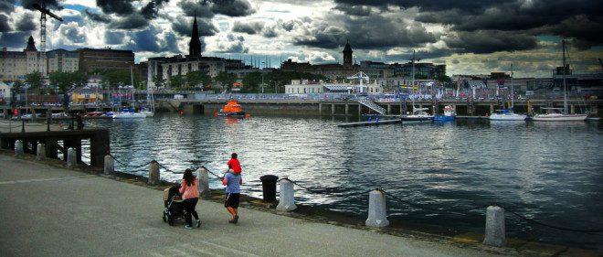 Dún Laoghaire - pertinho de Dublin, mas com cara de interior! Foto: Shutterstock
