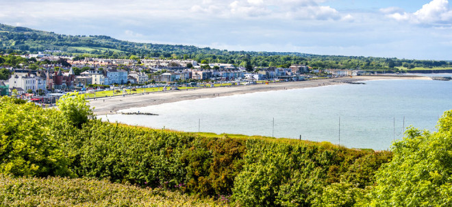 Bray, ao sul de Dublin, também está entre as opções dos intercambistas. Foto: Shutterstock