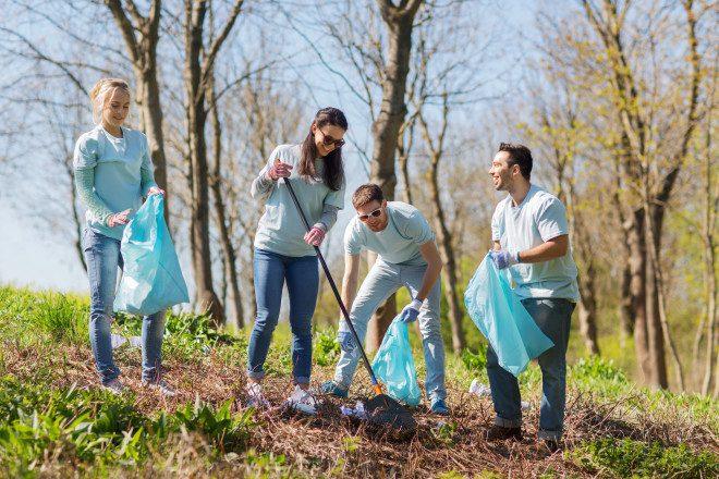 Voluntários em ação