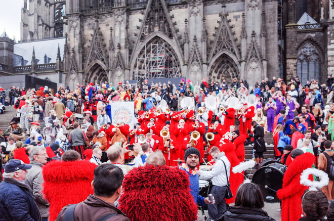 Na Alemanha o carnaval de Colônia é super animado.Foto: Shutterstock