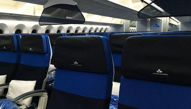 Assentos Economy Comfort Foto: KLM