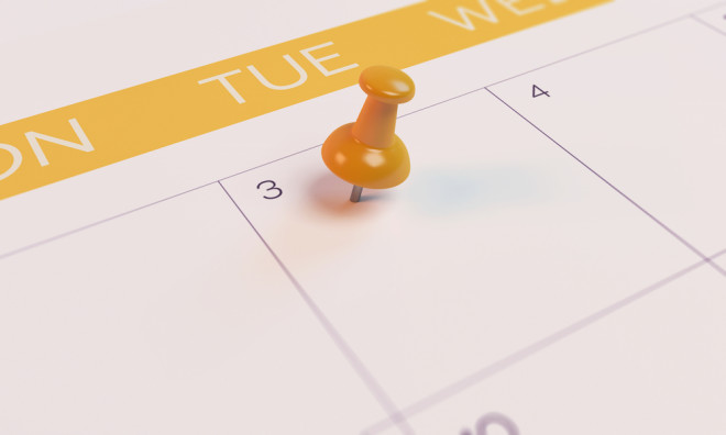 Is it Tuesday, after Friday? Foto: Shutterstock