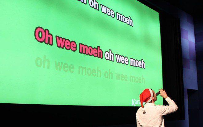 Até karaoke faz parte da programação. Foto: Divulgação