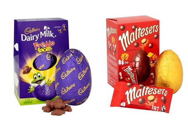 Os ovos de Páscoa irlandesas nada lembram os brasileiros. Os embalados em caixas são os mais comuns por aqui. Crédito: Mirror.com