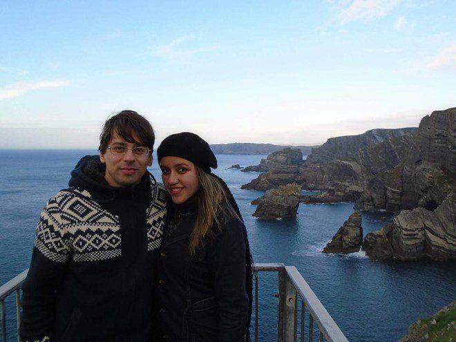 Eu e meu marido fizemos intercambio em Cork-IE e passamos por mais 10 países da Europa. Foto: Arquivo Pessoal