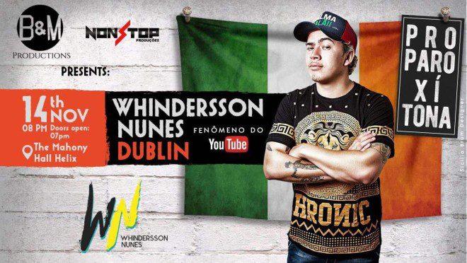 Whindersson Nunes se apresenta em Dublin. Foto: Divulgação