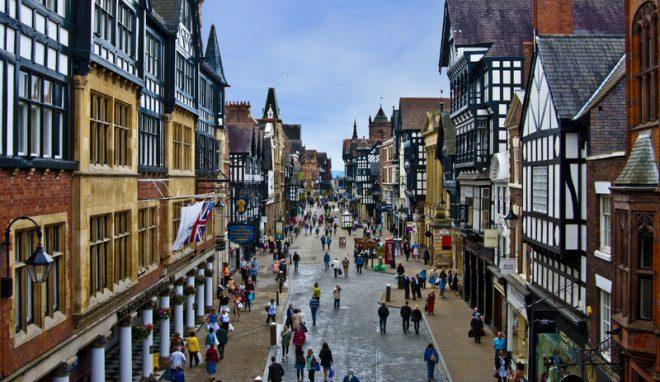 Chester, ma Inglaterra, foi eleita a cidade mais acessível da Europa este ano. Foto: Kadirlookatme | Dreamstime