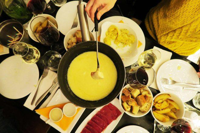 Fondue de 7 queijos. Foto: Arquivo Pessoal