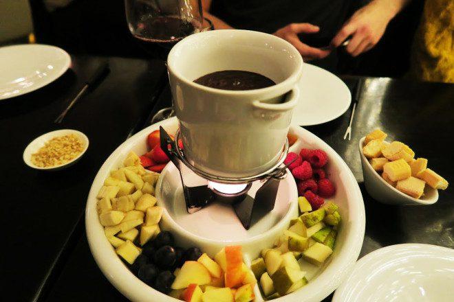 Fondue de chocolate! Foto: Arquivo Pessoal