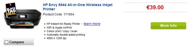 Impressora sai por €39 na Currys! Foto: Reprodução