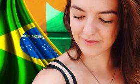 Uma irlandesa viajando sozinha pelo Brasil?
