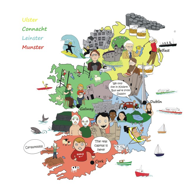Chips and Sausage - map of Ireland