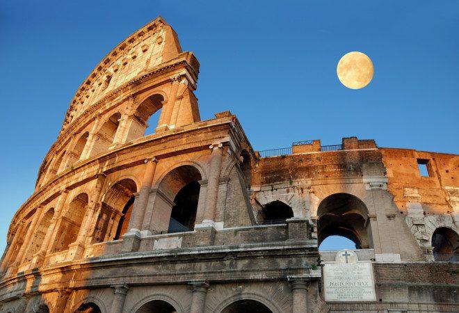 Coliseu é uma das obras da Roma Antiga. Crédito: Dreamstime