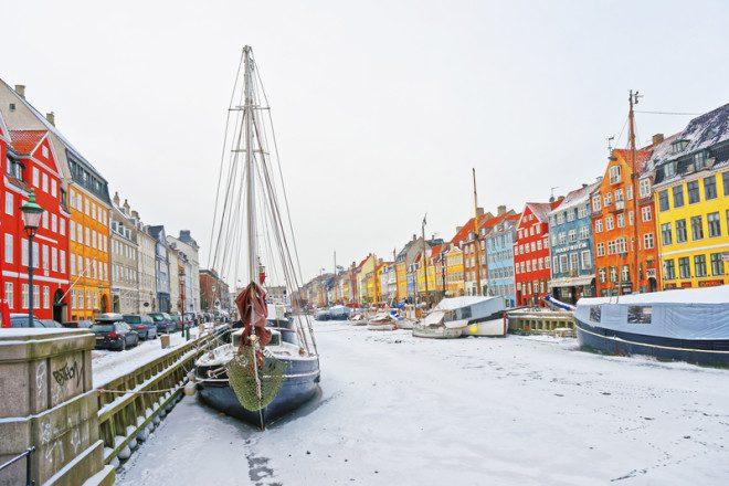 Copenhagen fica coberta de gelo durante o inverno. Foto: Erix2005 | Dreamstime