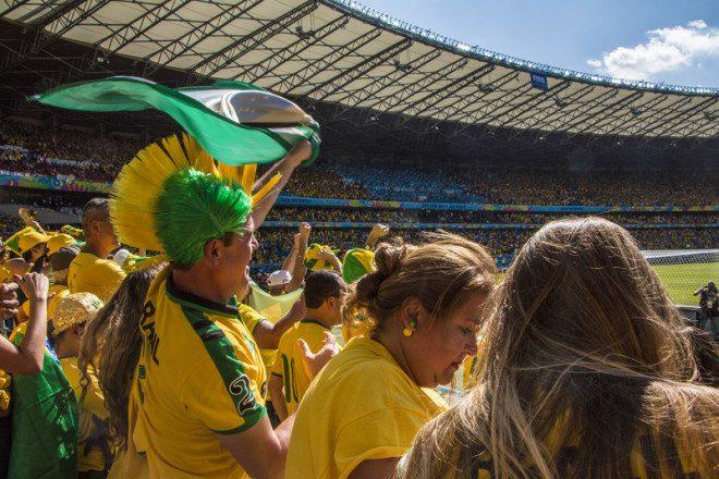 Torcedores brasileiros em Dublin estão mais perto da Rússia, mas será que vale à pena?. Foto: Aguina/Dreamstime
