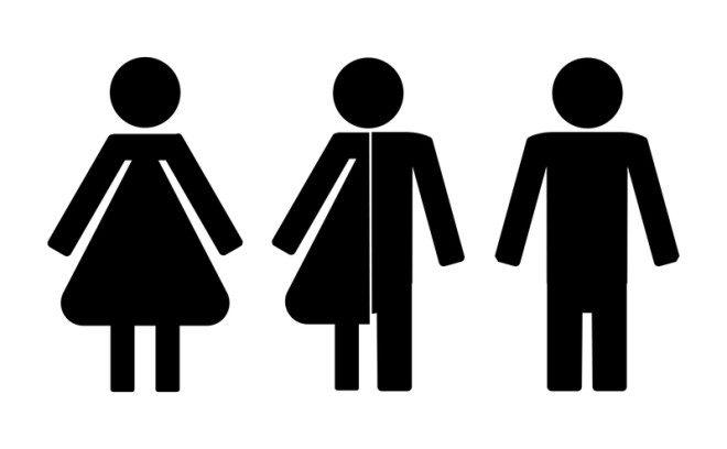 Banheiros tem placas de masculino e feminino substituídas por uma com todos os gêneros. Foto: Alima007 | Dreamstime