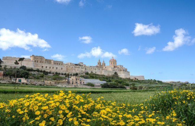 Mdina, a cidade murada, tem importância hitórica medieval. Foto: App555/Dreamstime
