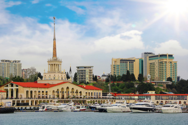 Sochi é chamada de Riviera Russa. Foto: Kav777 | Dreamstime