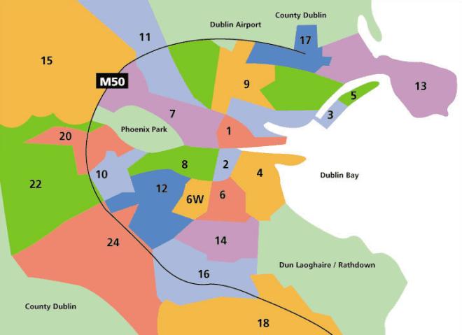 Bairros em Dublin se divide por números. Entenda onde é melhor morar durante o seu intercâmbio.
