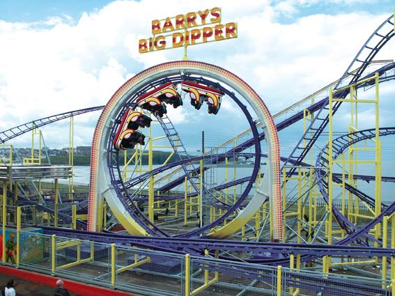 Localizado na Irlanda do Norte, o Barry's Amusement tem uma história que se remete aos anos 1920. Foto: Divulgação