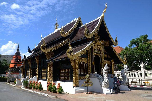 Templo em Chiang Mai, Tailândia. Foto: terimakasih0| Pixabay.