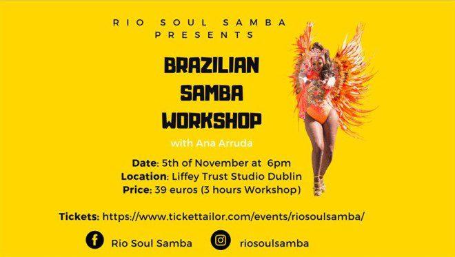 Workshop é oportunidade para se divertir e aprender a danças samba. Foto: Facebook