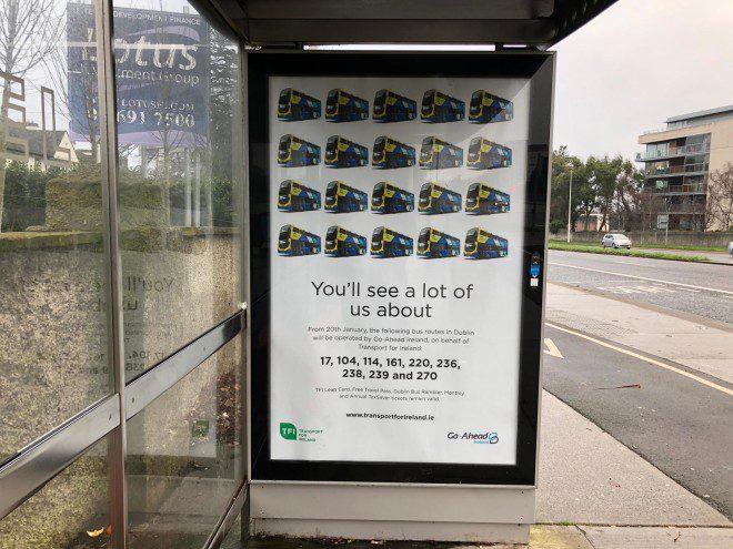 Go Ahead é o novo serviço de ônibus em Dublin e promete menos atrasos e eficiência. Foto: E-Dublin